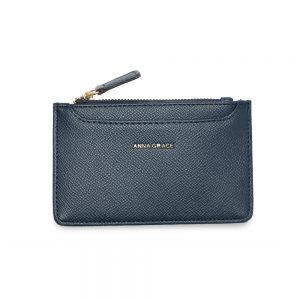 AGP1109 - Navy Anna Grace Zip Coin Pouch