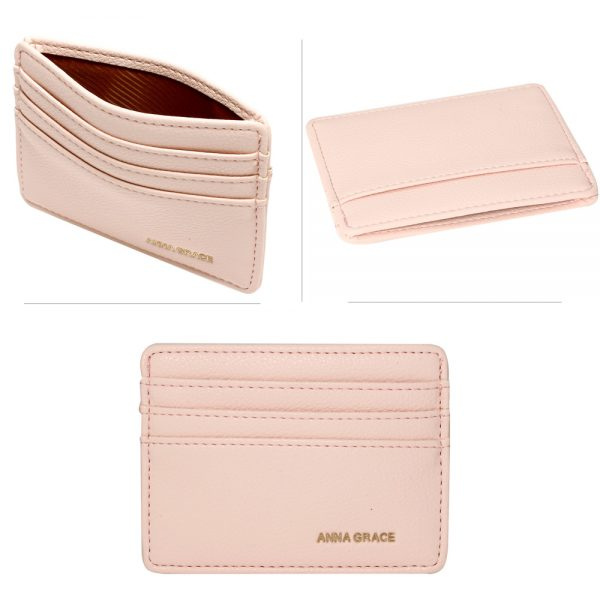 AGP1120 - Pink Anna Grace Card Holder Wallet