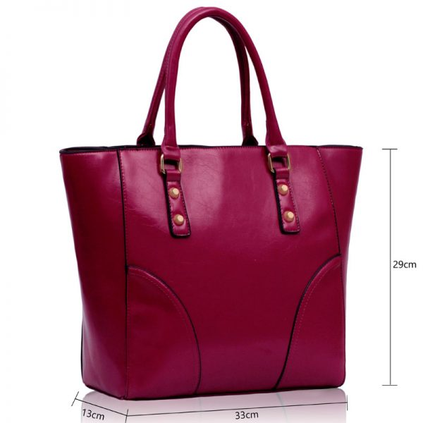 LS00233 - Purple Shoulder Tote Handbag