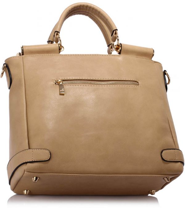 LS00237B - Nude Twist Lock Flap Grab Tote