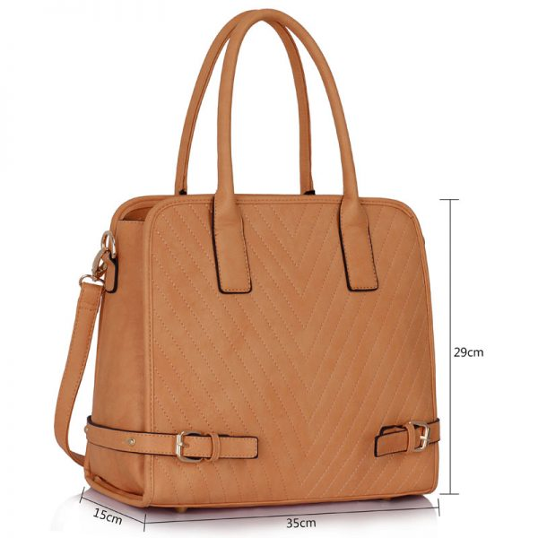 LS00248A - Nude Buckle Detail Tote Bag