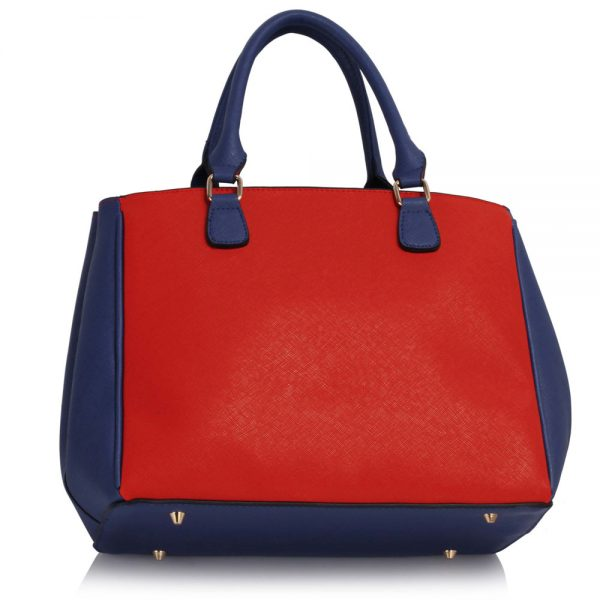 LS00410 - Blue / Orange Padlock Tote Handbag