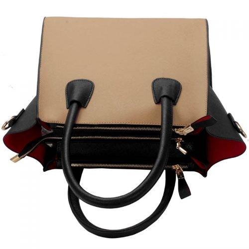 LS0061A - Black / Nude Fashion Tote Bag
