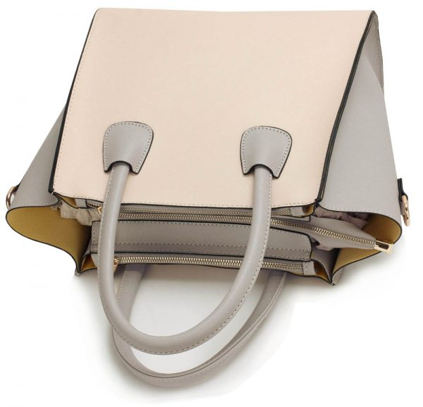 LS0061A - Grey / Nude Fashion Tote Bag