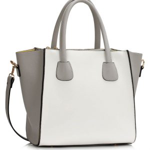LS0061A - Grey / White Fashion Tote Bag