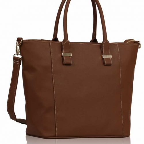 LS0076A - Luxury Brown Tote Bag