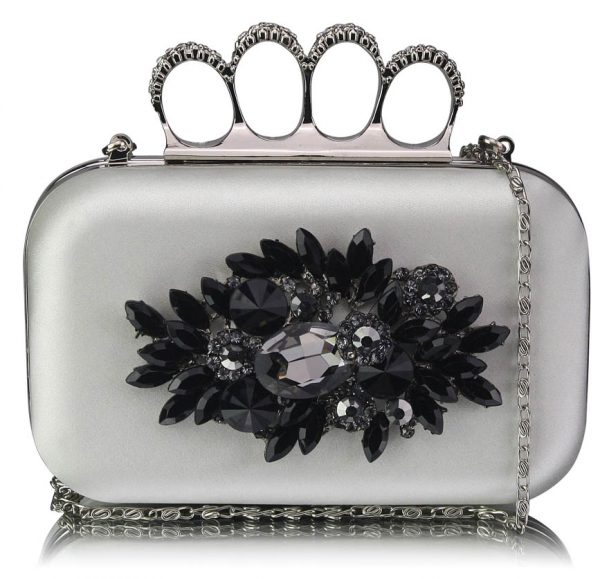 LSE00178- Ivory Women's Knuckle Rings Evening Bag