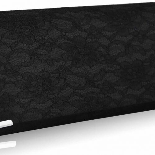 LSE00234 - Black Lace Clutch Bag