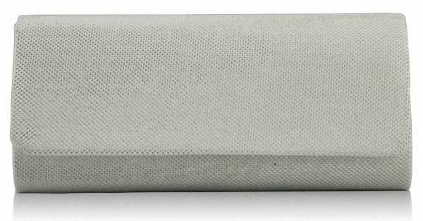 LSE00247 - White Clutch Bag
