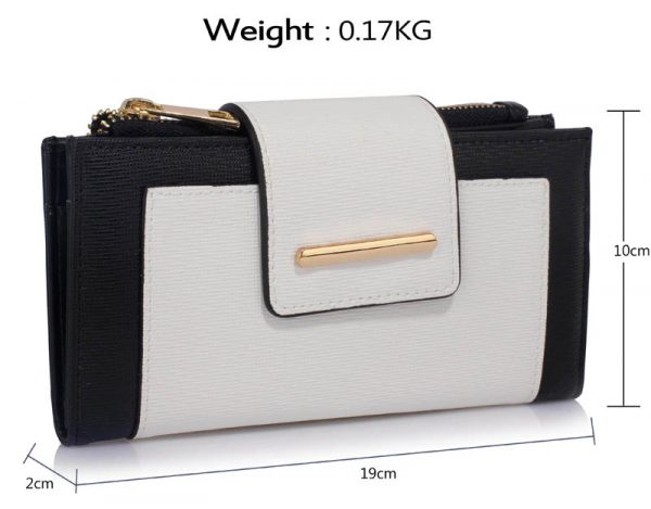 LSP1079 - Black /White Purse/Wallet