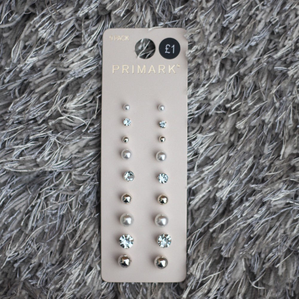 primark-9-pack-silver-and-pearl-studs