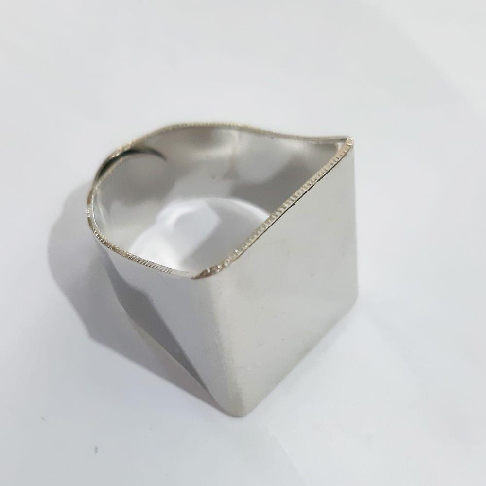 Silk Avenue Silver Ring Free Size