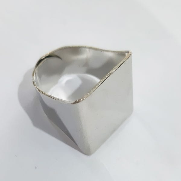 Silk Avenue Silver Ring Free Size