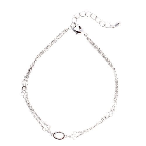 AGB0070 - Silver Plated Fashion Crystal Bracelet