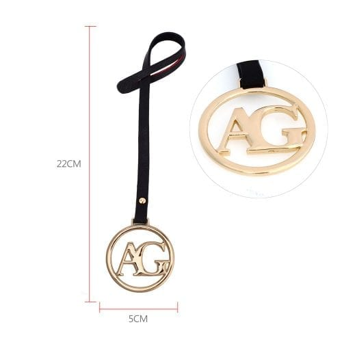AGC1023 - Gold Anna Grace Brand Logo Bag Charms