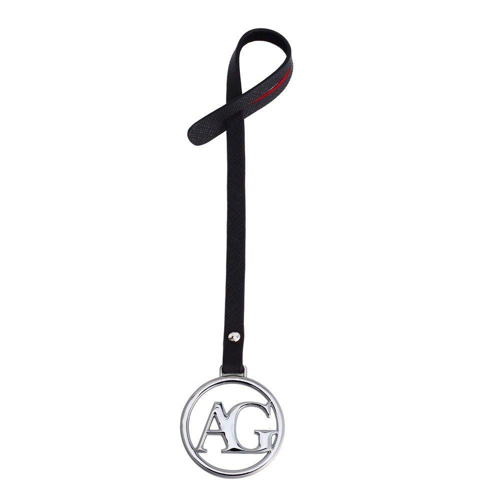 AGC1024 - Silver Anna Grace Brand Logo Bag Charms