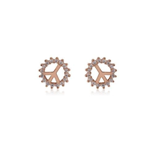 AGE0014 - Gold Sparkling Crystal Peace Earring