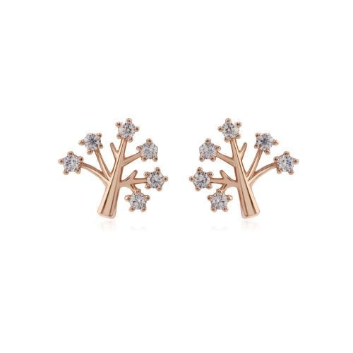 AGE0016 - Gold Sparkling Crystal Tree Earring