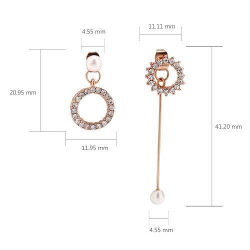 AGE0025 - Gold Crystal Pearl Fashion Earring