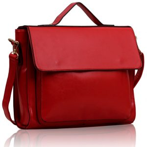 LS00189 - Red Flap Over Shoulder Bag