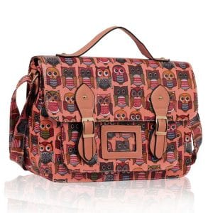 LS00226B - Peach Owl Design Satchel