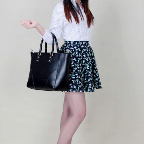LS00233A - Black Shoulder Handbag