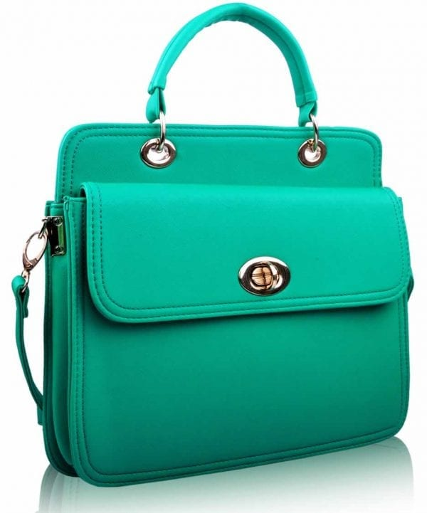 LS0024 - Emerald Tote With Large Twist Lock Front Pocket