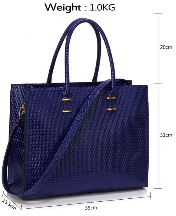 LS00319D - Navy Fashion Tote Handbag