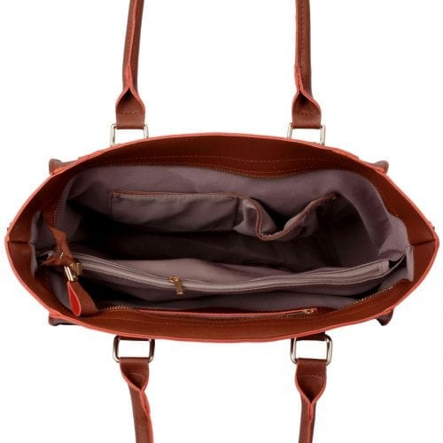 LS00323 - Brown Tote Bag With Long Strap