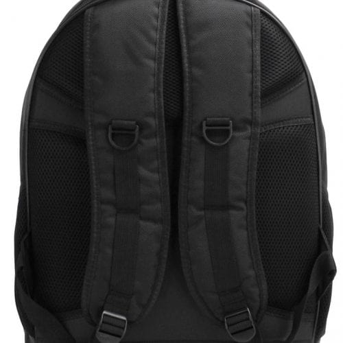 LS00399  - Black Backpack Rucksack School Bag