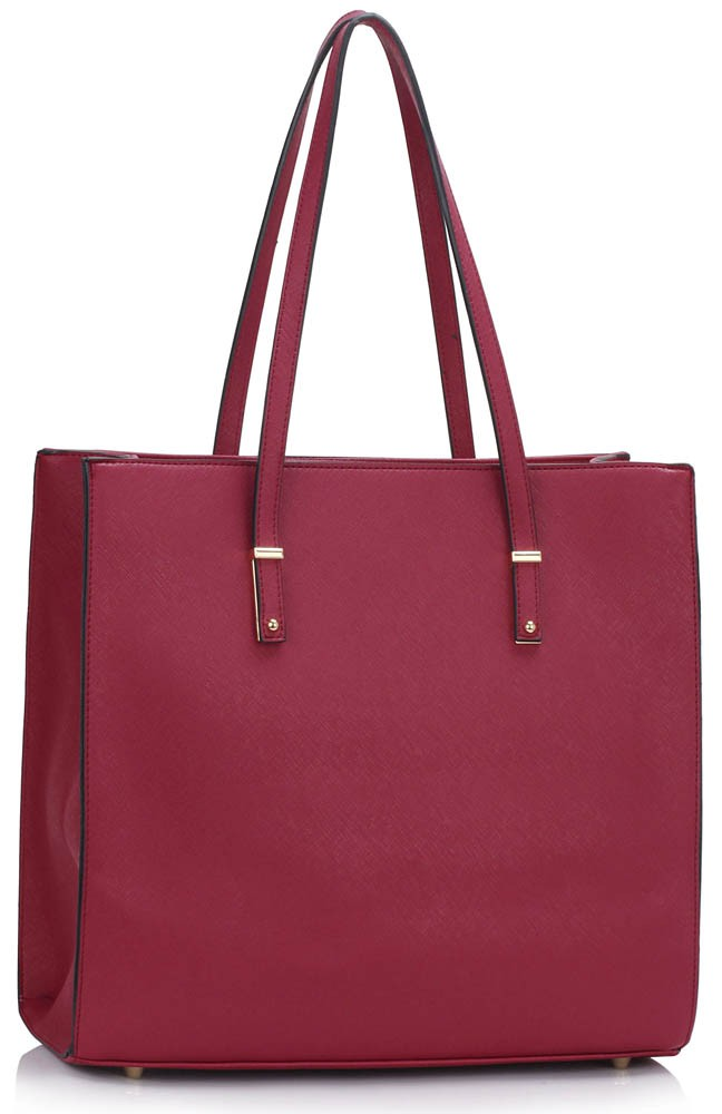 LS00465 - Burgundy Women's Large Tote Bag