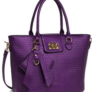 LS00485 - Purple Grab Bag With Bow Charm