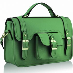 LS001 - Emerald Classic Buckle Satchel With Long Strap