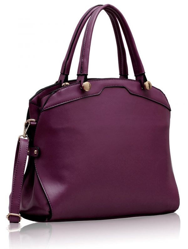LS00214 - Purple Grab Shoulder Bag