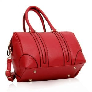 LS00222- Red Satchel Grab Bag