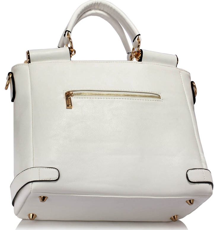 LS00237B - White Twist Lock Flap Grab Tote
