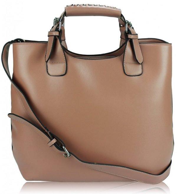 LS00267 - Pink(Nude) Ladies Fashion Tote Handbag