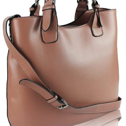 LS00267 - Pink(Nude) Ladies Fashion Tote Handbag