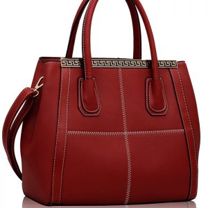 LS0030B - Red Checkered Fashion Tote Handbag