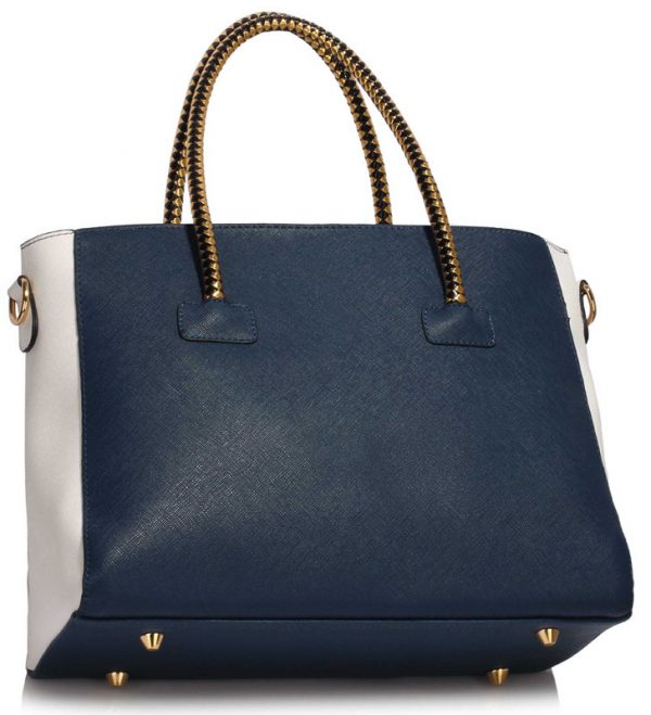 LS00318 - Navy  / White Women's Fashion Tote Bag