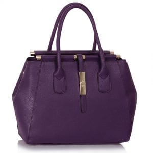 LS00320 - Purple Twist Lock Tote Bag
