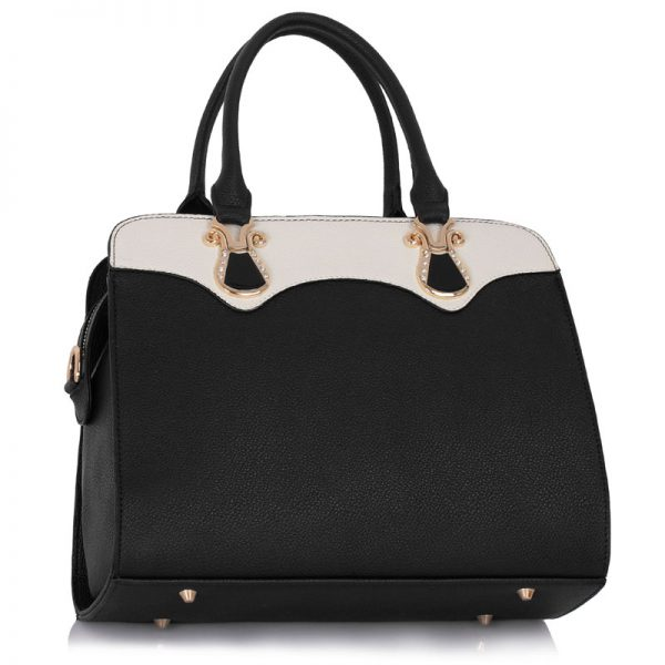 LS00334 - Black / White Grab Tote