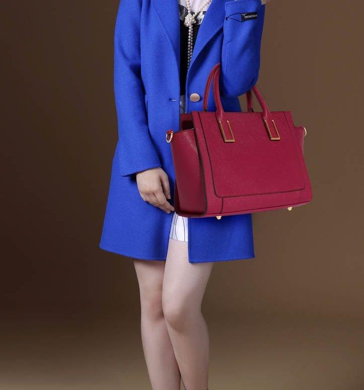 LS00338B - Burgundy Grab Tote Handbag