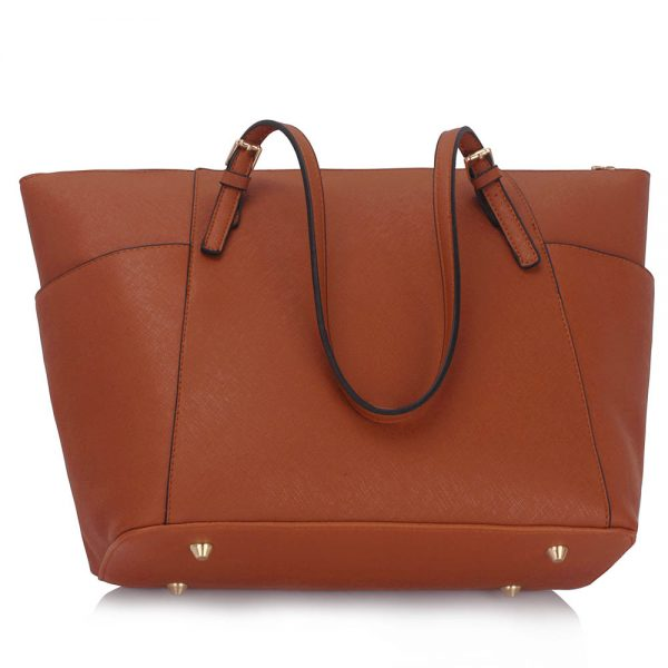 LS00350 - Brown Women's Large Tote Bag
