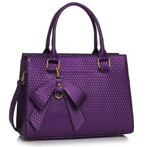 LS00374B - Purple Grab Bag With Bow Charm