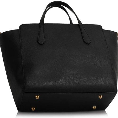 LS00402 - Black / Nude Women's Large Tote Bag