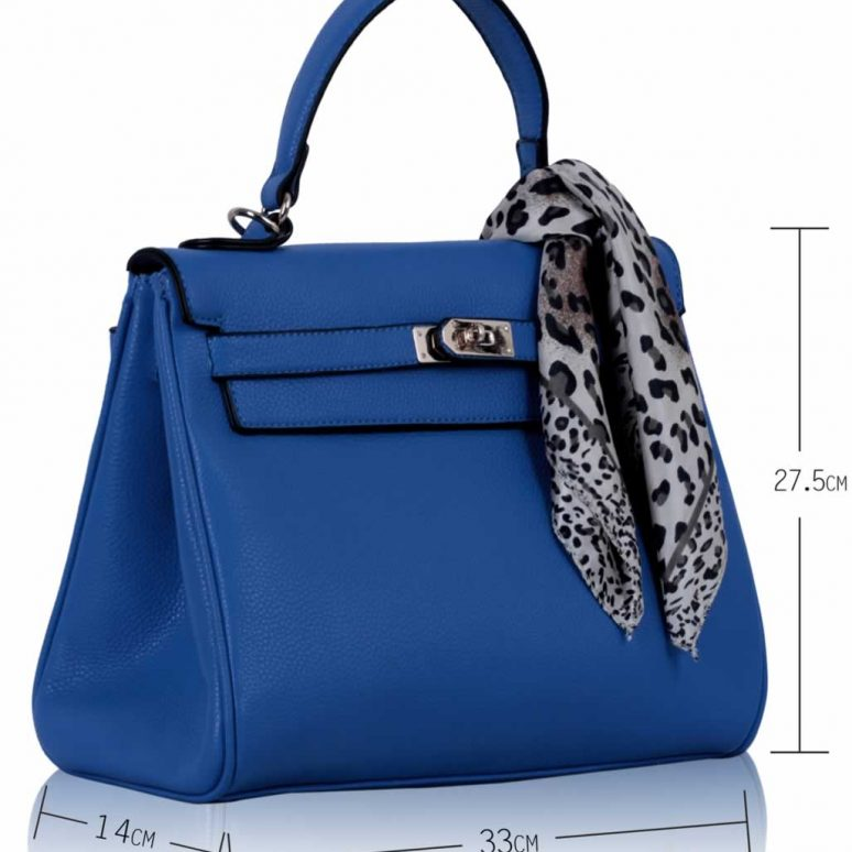 LS0057 - Blue Scarf Grab Tote Bag