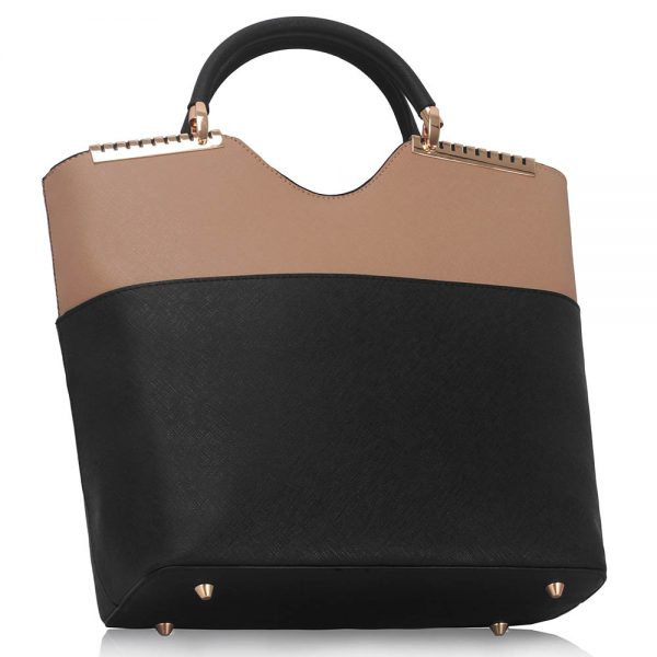 LS0074A - Black / Nude Fashion Tote Handbag