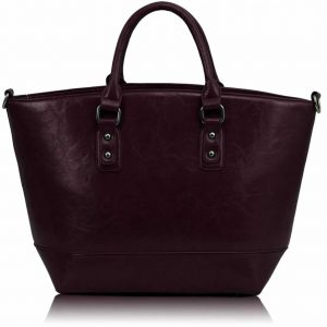 LS0085A- Purple Fashion Tote With Long Strap