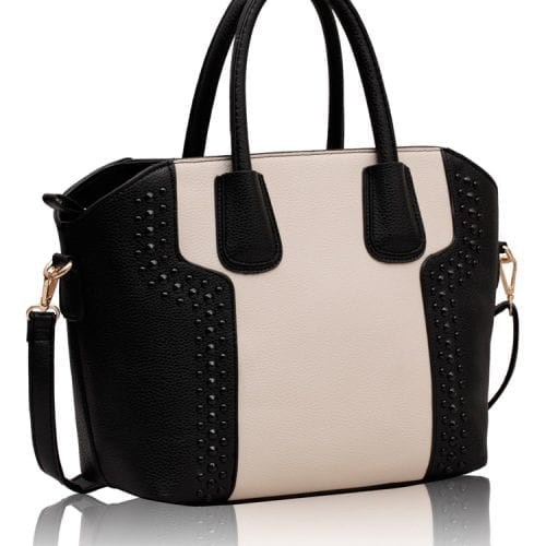 LS0094 - Black / White Fashion Tote